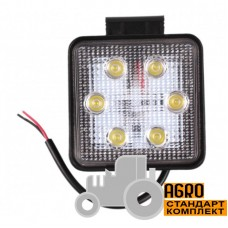Фара дополнительная LED 18 W (6x3W Epistar), 1300 Lm, квадратная