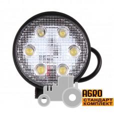Фара дополнительная LED 18 W (6x3W Epistar), 1300 Lm, круглая